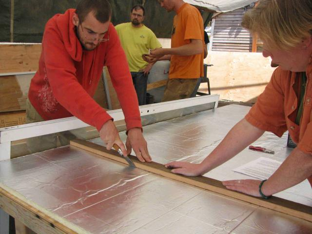 Cutting Reflective Insulation to Fit Box